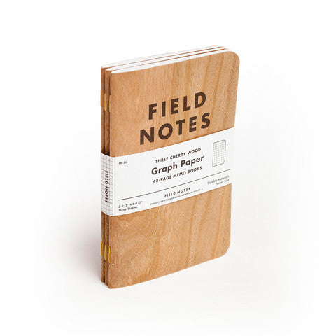 Field Notes Notizbuch Three Cherry Wood