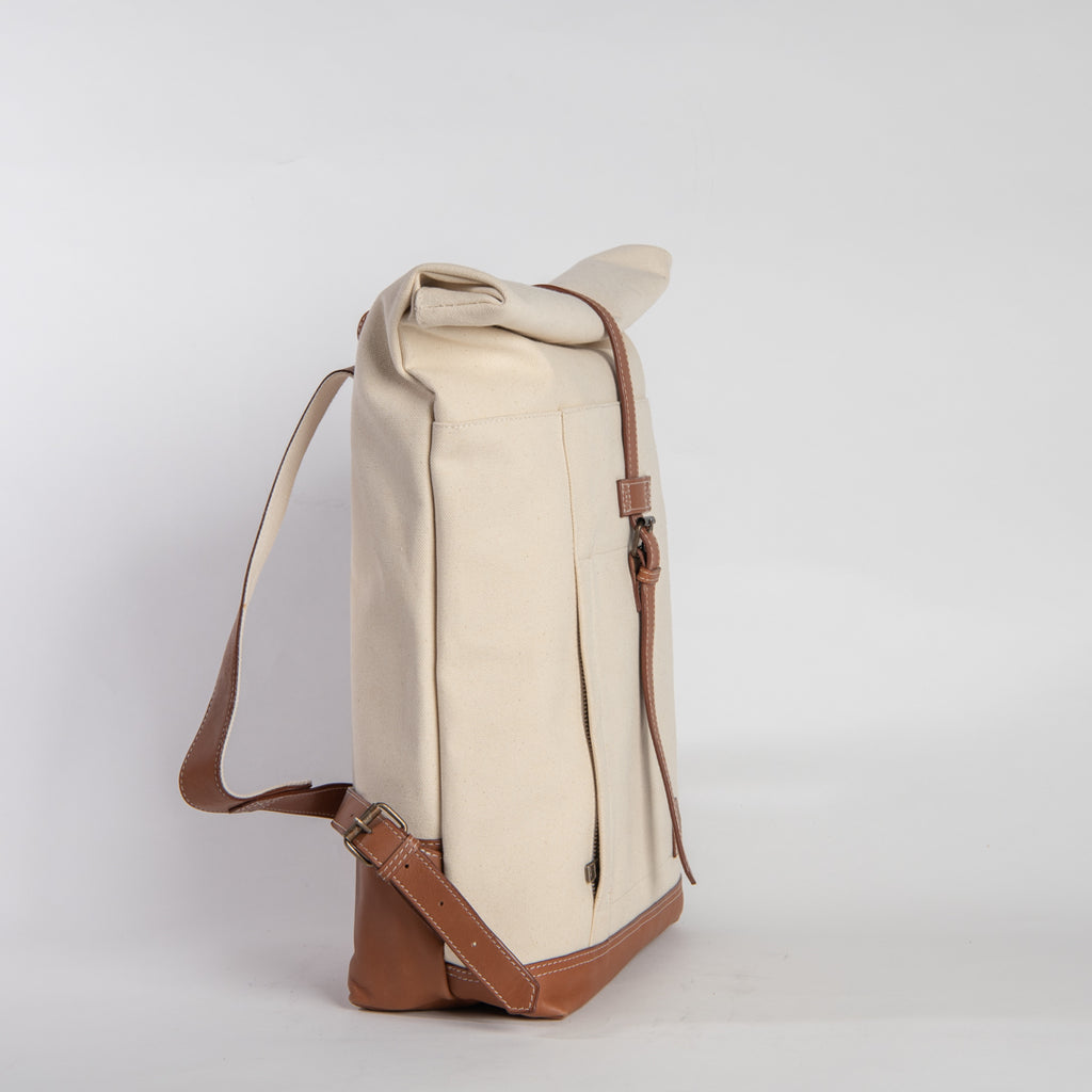 Arniko Backpack Roll Up Off White