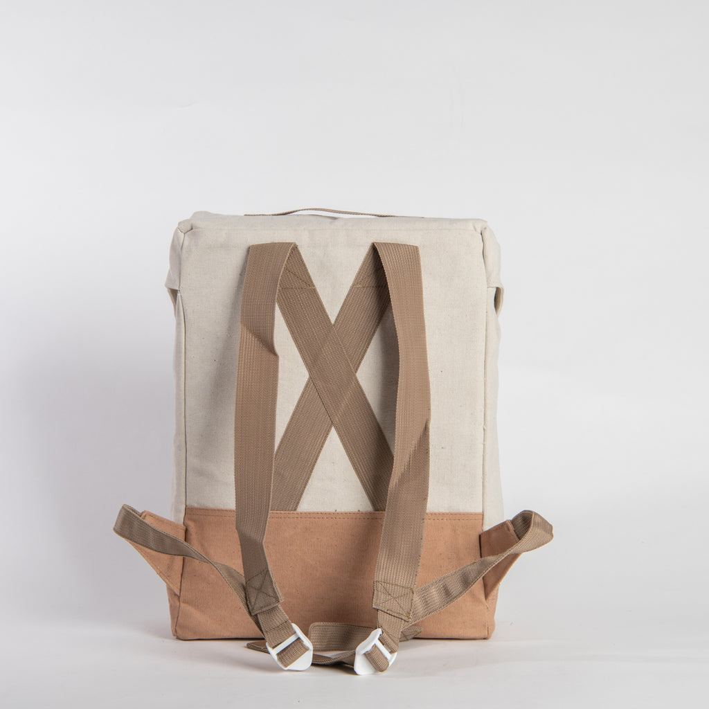 Arniko Backpack Light White Brown