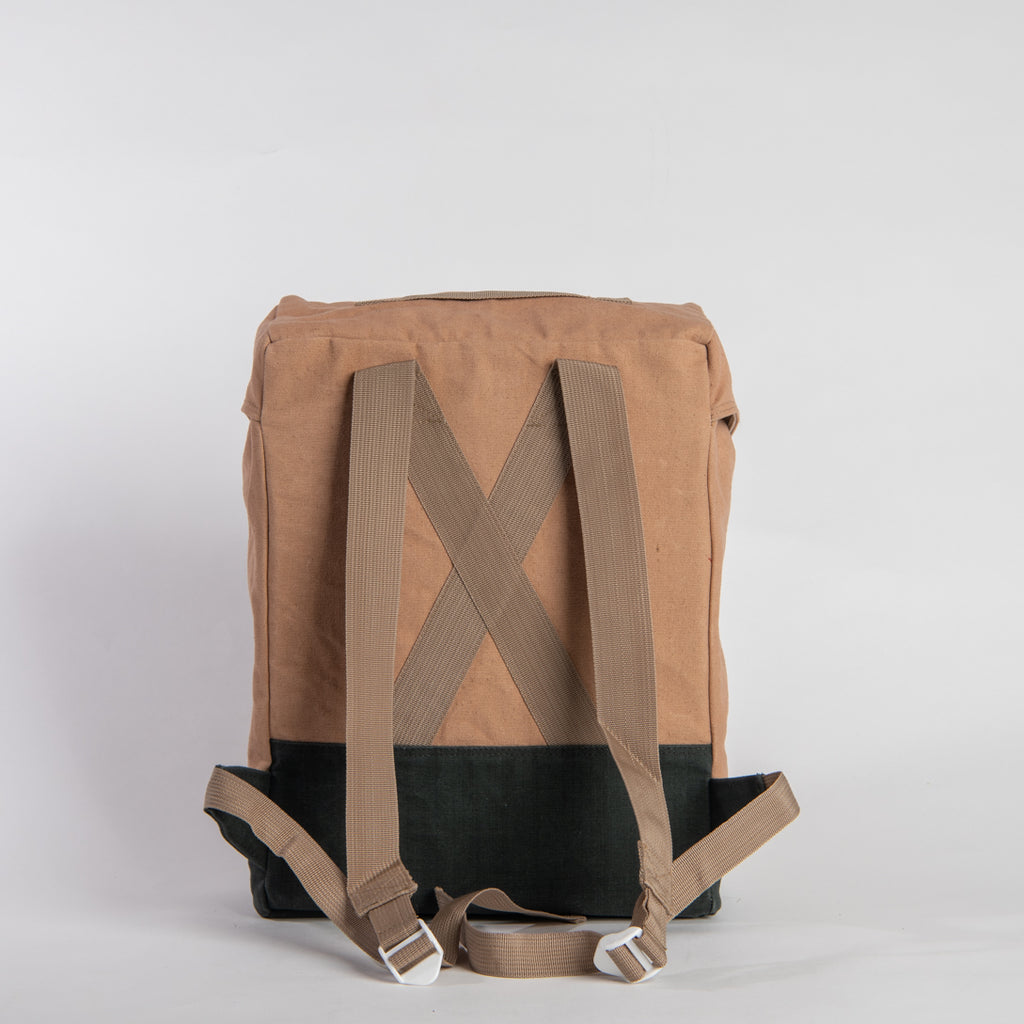 Arniko Backpack Light Brown Green