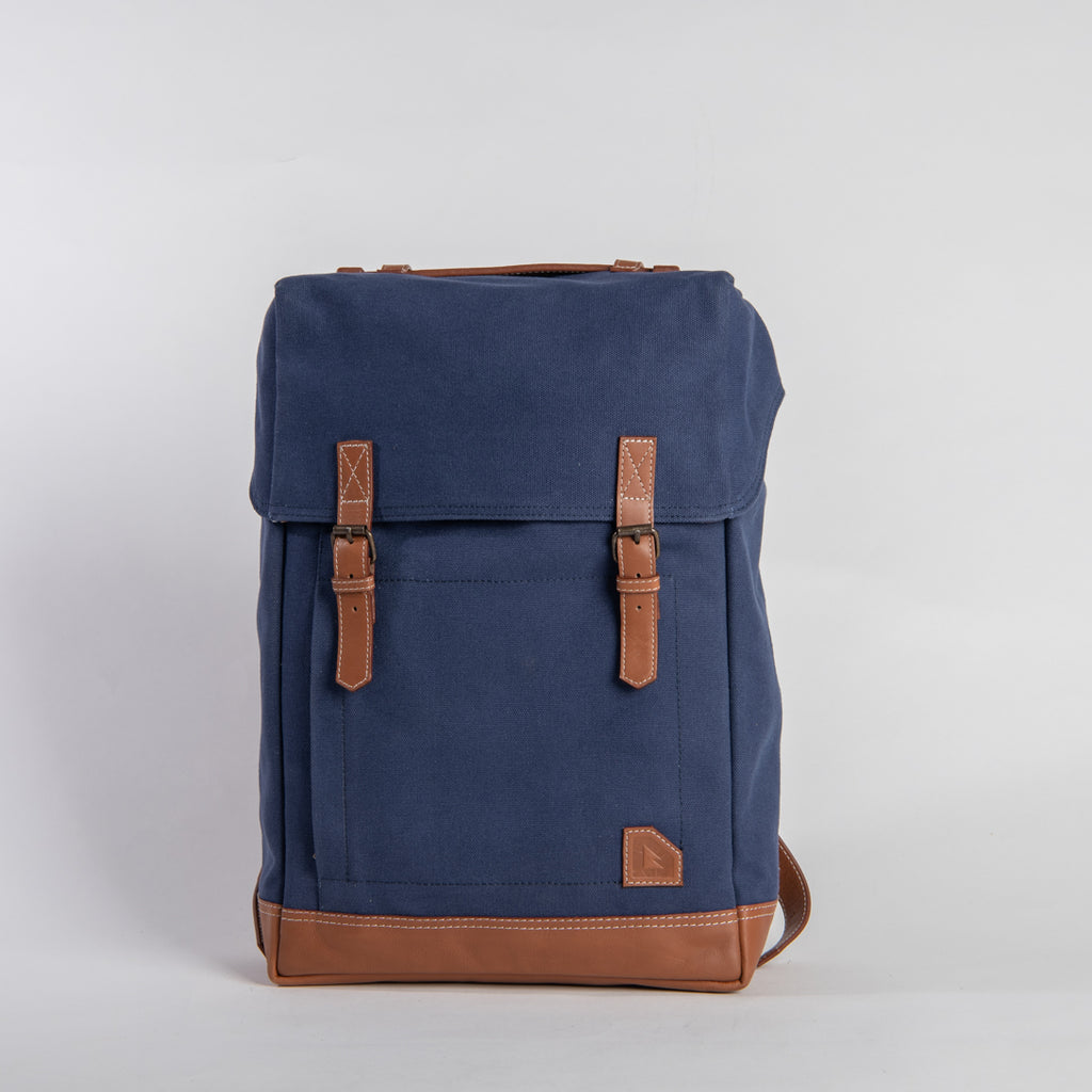Arniko Backpack Classic Side Zipper Navy