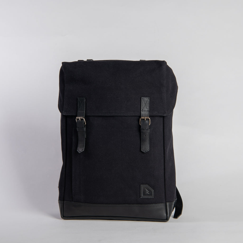 Arniko Backpack Classic Side Zipper All Black