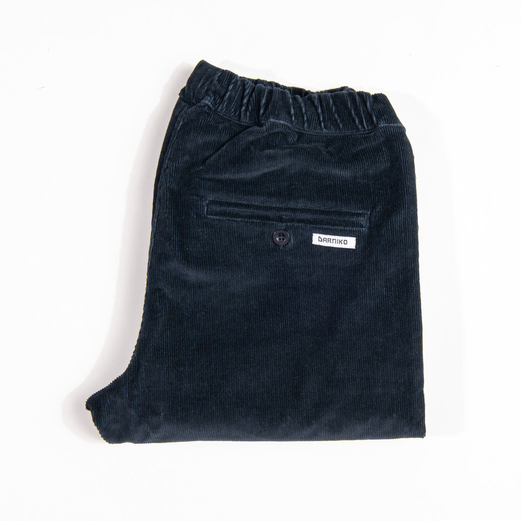 Arniko Pants Michael Cropped Corduroy Navy