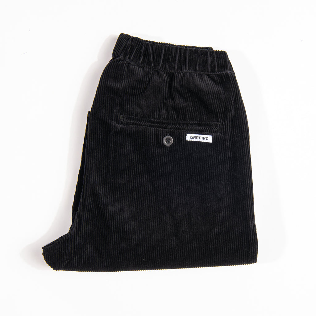Arniko Pants Michael Cropped Corduroy Black