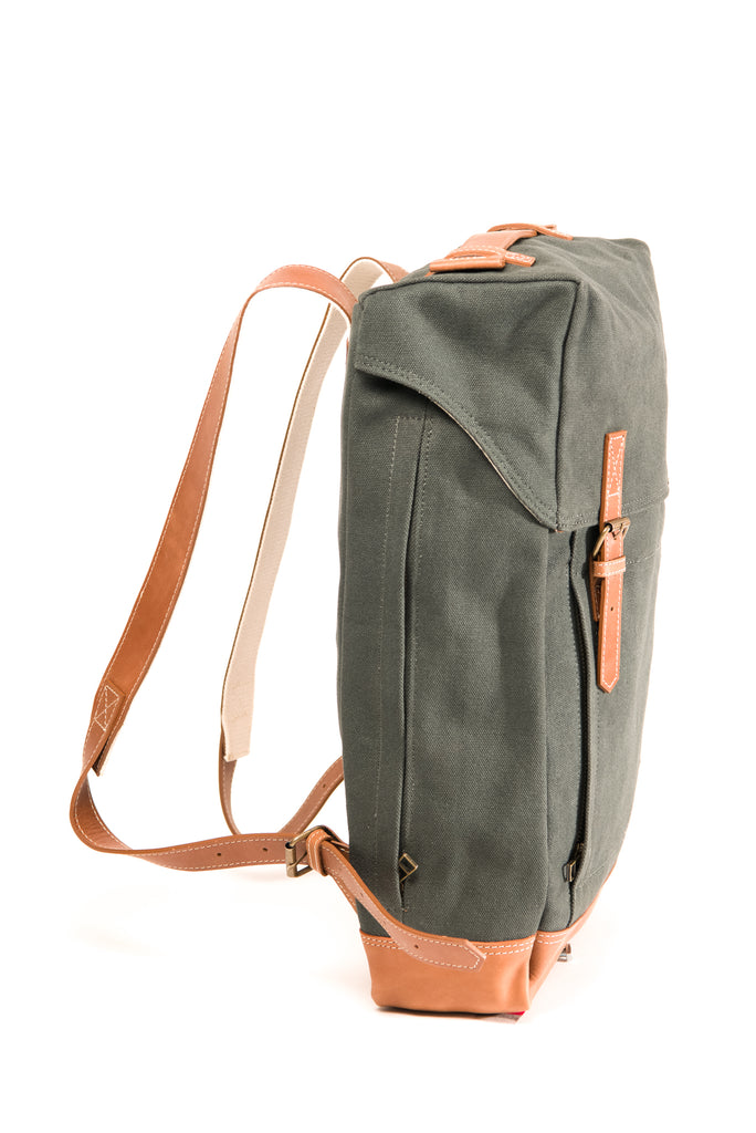 Arniko Backpack Side Zipper Dark Green