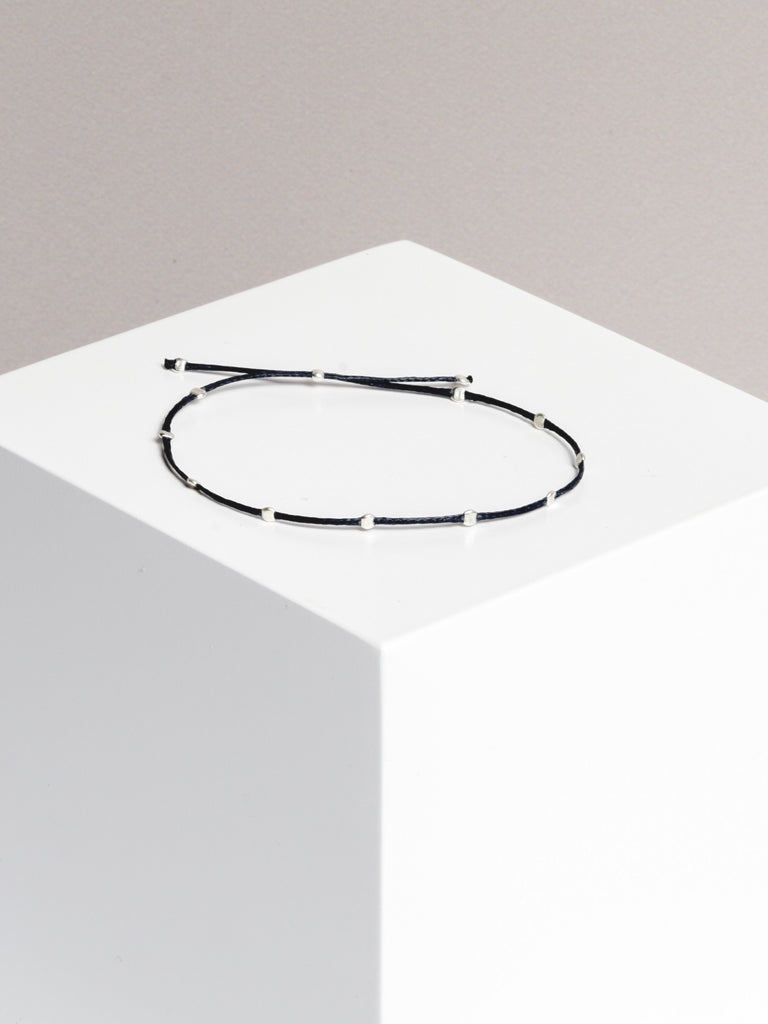 Yoomee Bracelet 10 Dots Space Black/Silver