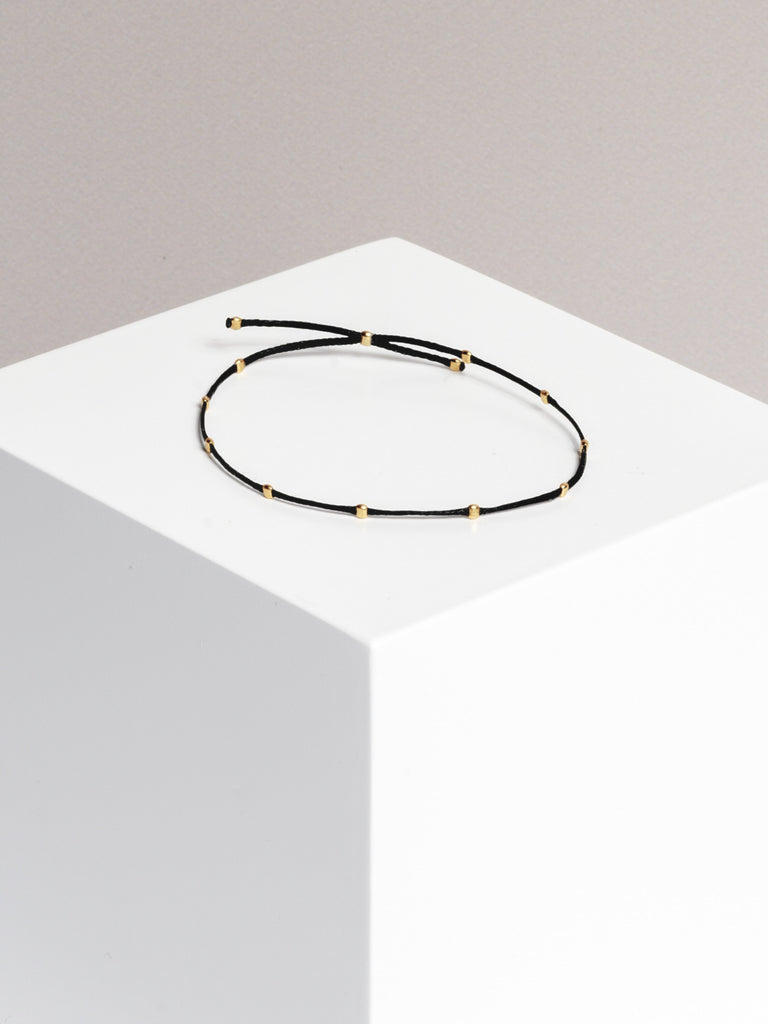 Yoomee Bracelet 10 Dots Space Black/Gold