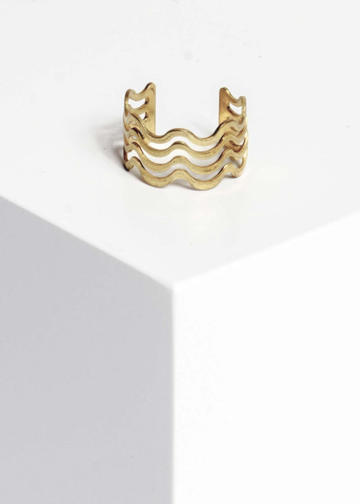 Yoomee Ring Triple Wave Gold