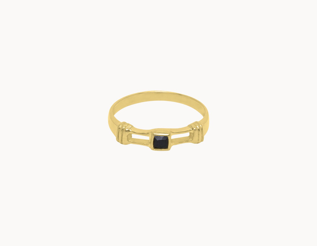 Flawed Ring Obsidian Gold