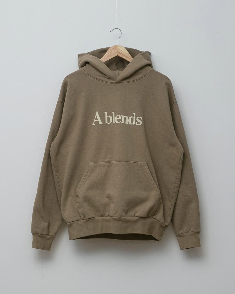【2021 Spring NEW Arrivals】A blends 製品染めフロッキープリントスウェットパーカ - A blends official | ブランド公式オンラインストア