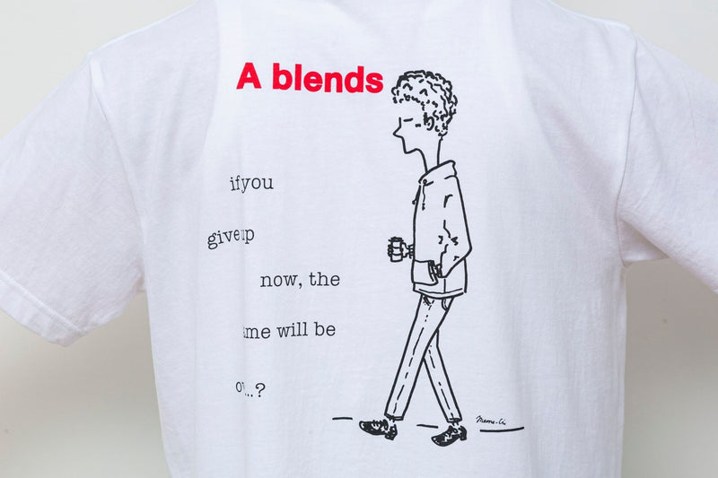 "Meme-ci × A blends プリントTシャツ ""with coffee"" - A blends official 