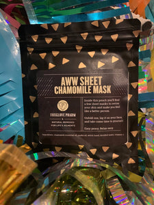 Aww Sheet: Chamomile face masks