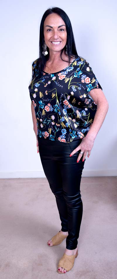 Fate + Becker Floral Print Top