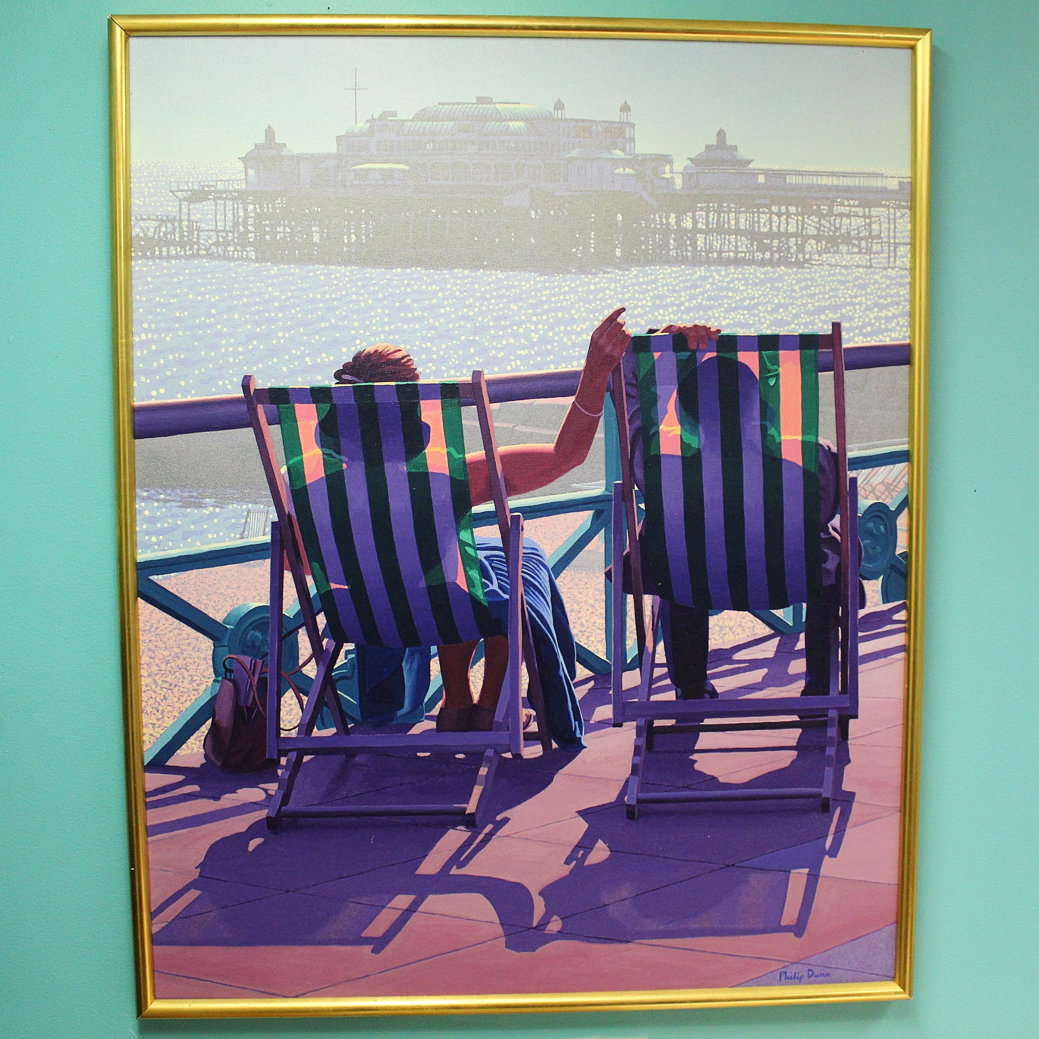 Relaxing in Brighton by Philip Dunn , England, 20th Century