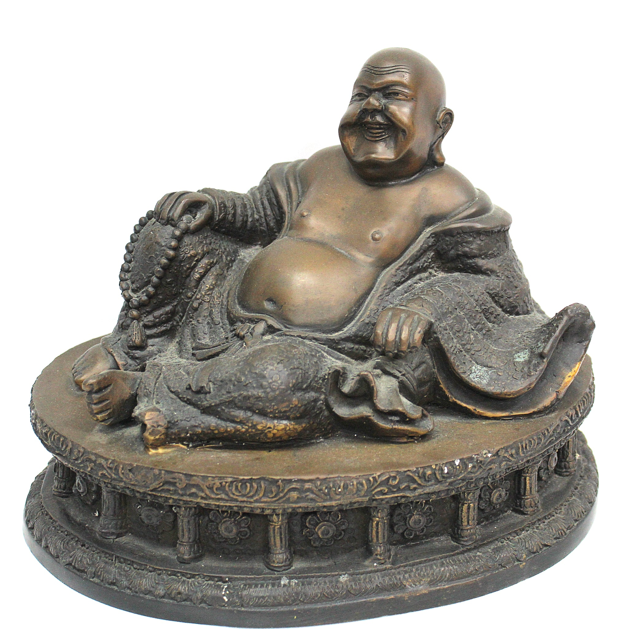 Bronze Hotei, Happy Laughing Buddha of Wealth & Prosperity