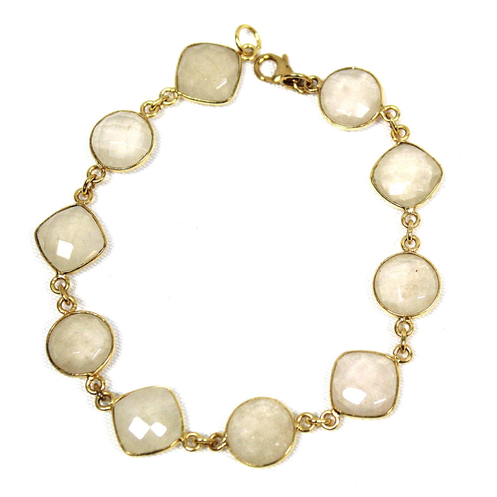 Lovely Quartz & 22k Gold Vermeil Bracelet