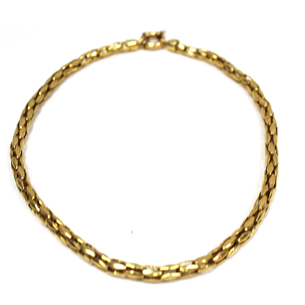Vintage 14k Yellow Gold Fancy Link Necklace