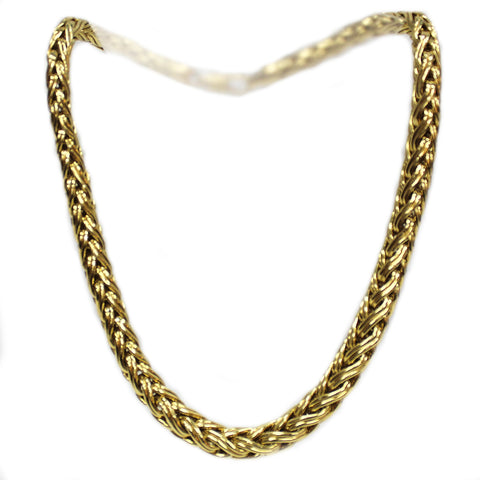 Vintage 18k Yellow Gold Heavy Link Necklace