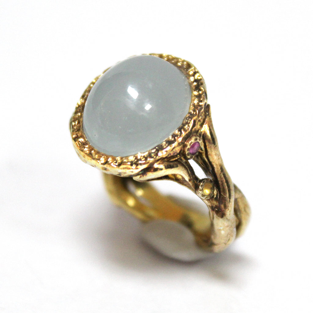 Unique Modern Chalcedony Ring