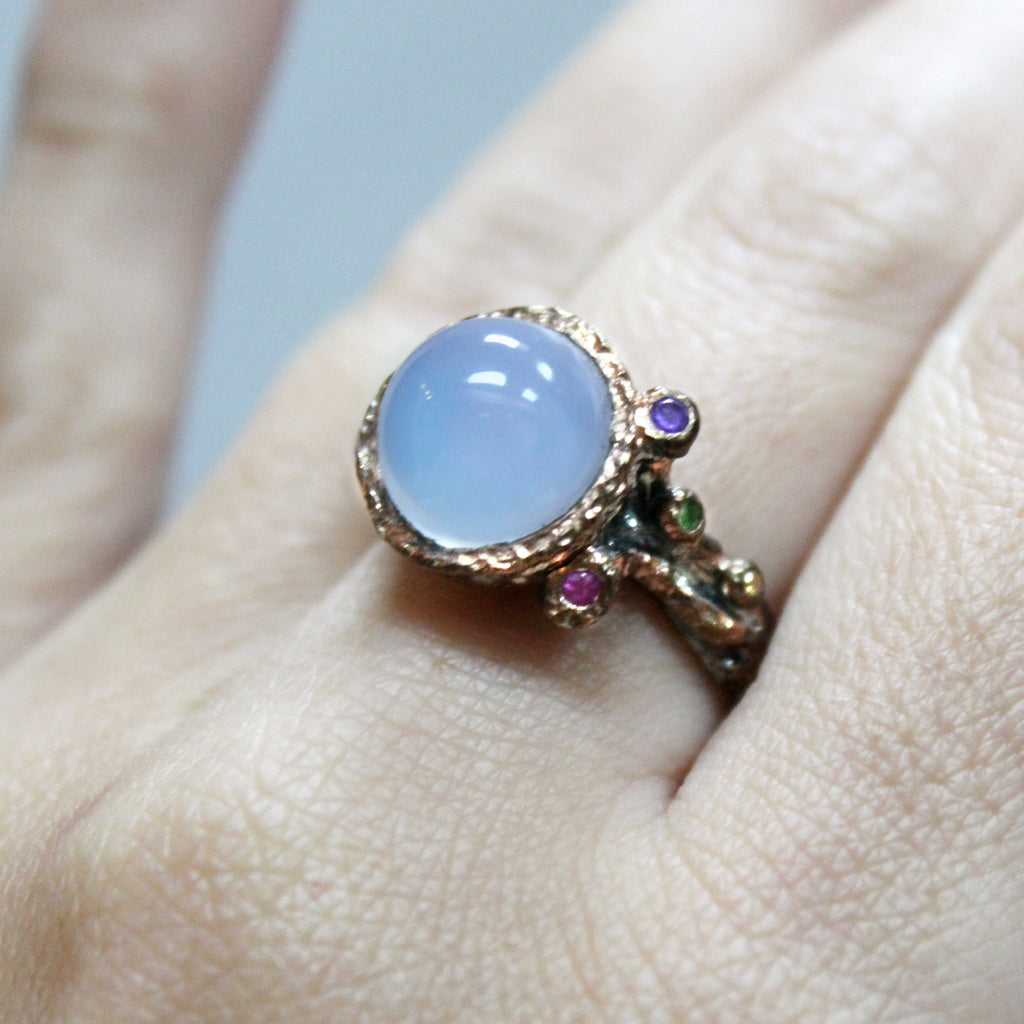 Unique Modern Moonstone Ring