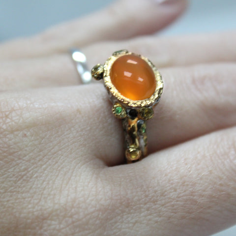 Unique Modern Gemstone Ring