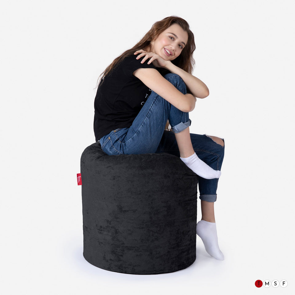 ALDO BLACK TALL POUF