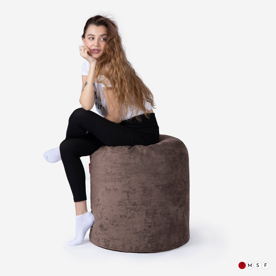 ALDO BROWN TALL POUF