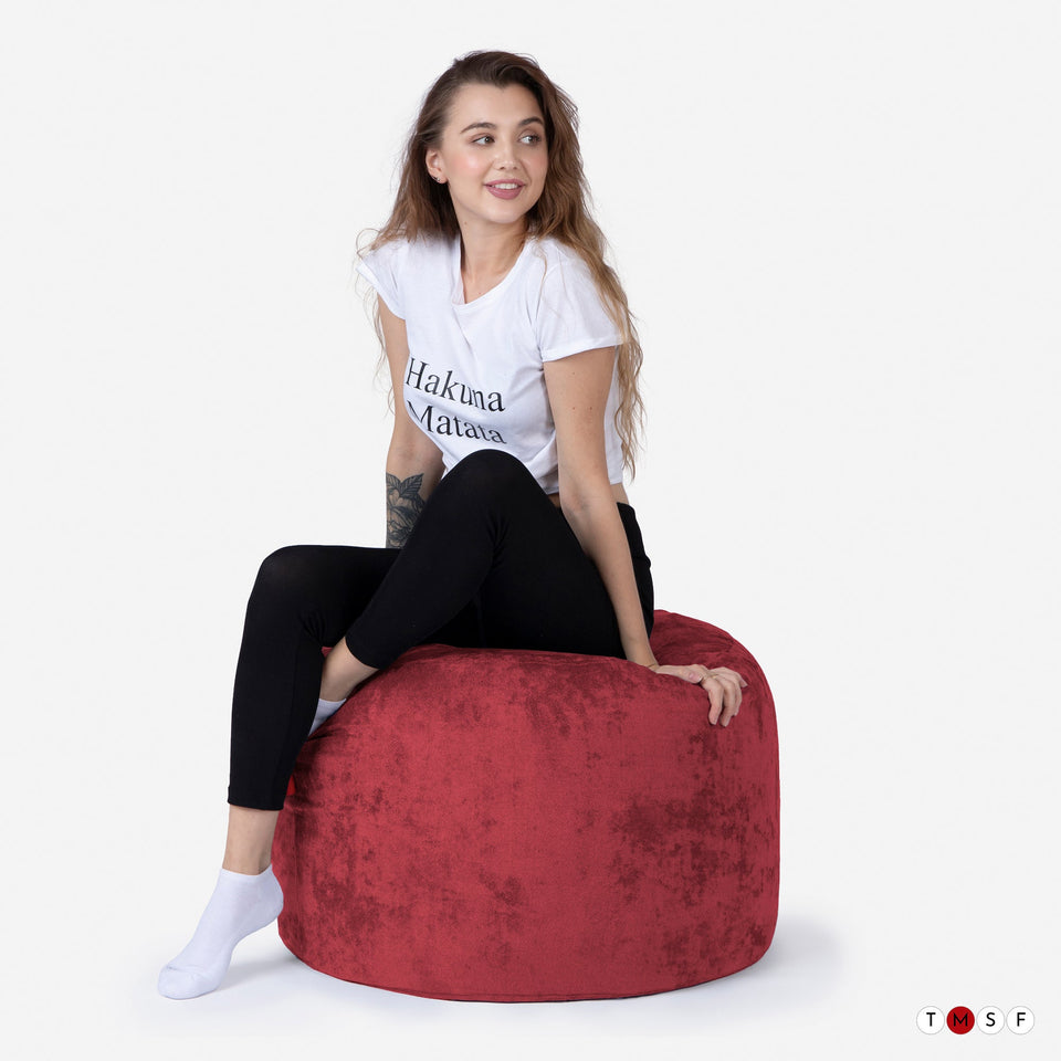 ALDO RED MEDIUM POUF