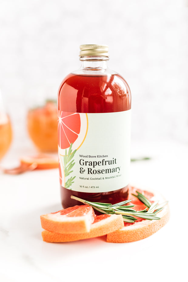 Grapefruit & Rosemary Cocktail-Mocktail Mixer, 16 fl oz 1