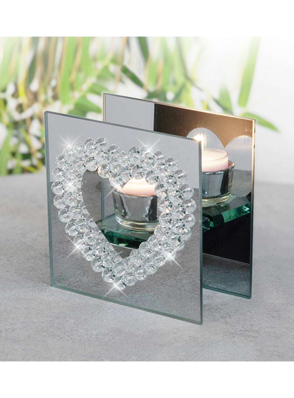 Glass Heart Tealight