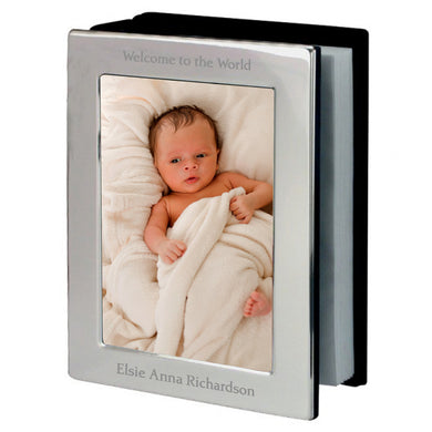 Engraved Silver Photo Frame Album - Under A Rainbow