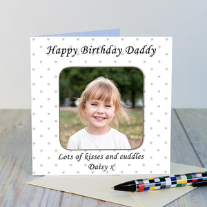 Personalised Photo Upload Coaster Card - Under A Rainbow