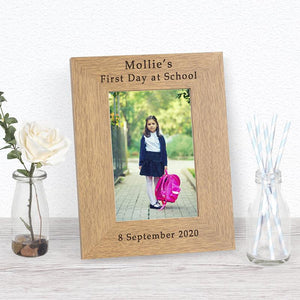First Day at School Photo Frame - Under A Rainbow
