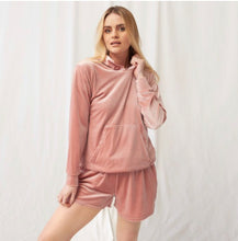 Load image into Gallery viewer, VELOUR CASUAL HOODIE - CREAM or BLUSH PINK