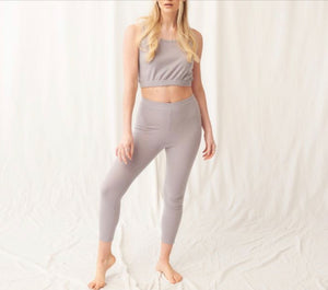 BRUSHED RIB STRETCH LEGGINGS - CREAM, PINK or GREY