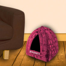 Load image into Gallery viewer, Maroon Pyramid Pet Bed