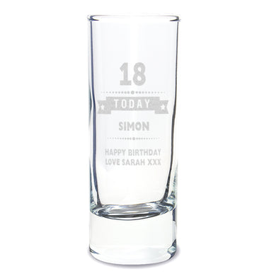 Personalised Birthday Star Shot Glass - Under A Rainbow