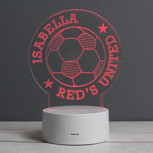 Load image into Gallery viewer, Personalised Football LED Colour Changing Desk Night Light - Under A Rainbow