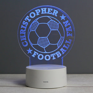 Personalised Football LED Colour Changing Desk Night Light - Under A Rainbow
