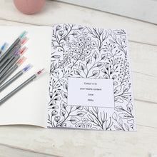 Load image into Gallery viewer, Personalised Botanical Colouring Book