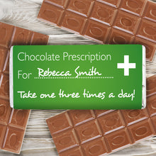 Load image into Gallery viewer, Personalised Prescription Milk Chocolate Bar