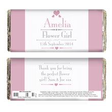 Load image into Gallery viewer, Personalised Decorative Wedding Female Milk Chocolate Bar