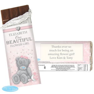 Personalised Me To You Girls Wedding Milk Chocolate Bar
