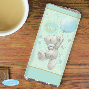 Personalised Me To You Birthday Balloon Milk Chocolate Bar