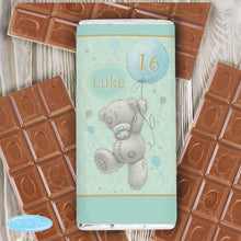 Load image into Gallery viewer, Personalised Me To You Birthday Balloon Milk Chocolate Bar