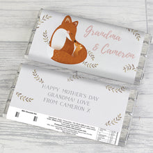 Load image into Gallery viewer, Personalised Mummy and Me Fox Chocolate Bar