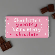 Load image into Gallery viewer, Personalised Yummy Scrummy Mummy Milk Chocolate Bar