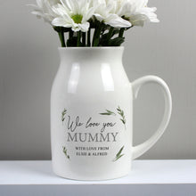 Load image into Gallery viewer, Personalised Botanical Flower Jug