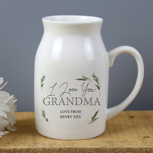 Personalised Botanical Flower Jug