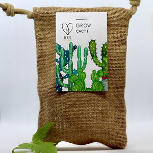 Cactus Jute Bag Grow Set